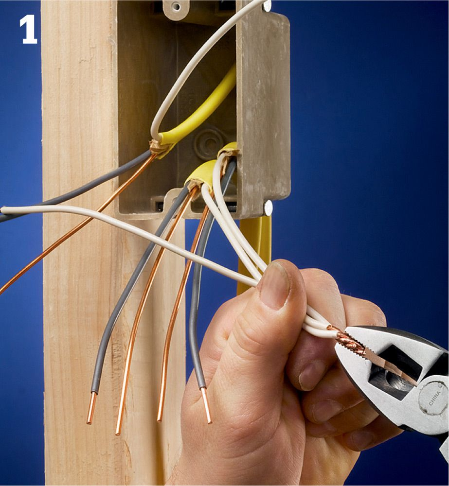 Wire Cable Conduit The Complete Guide To Wiring Black Pigtail Technique Grasp Wires Be Joined In Jaws Of A Pair Linesmans Pliers Ends Should Flush And They