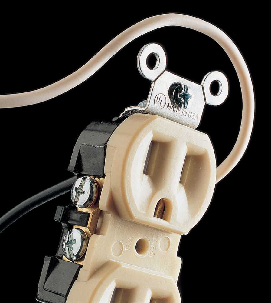 Common Mistakes The Complete Guide To Wiring Black Decker White Hot Neutral Problem Wires Are Connected Brass Screw Terminals On Receptacle And Attached Silver