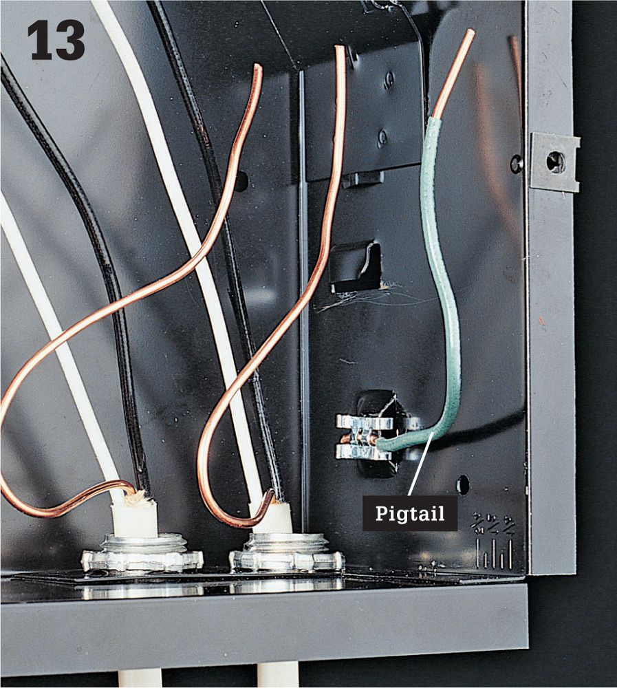 Wire Cable Conduit The Complete Guide To Wiring Black Pvc System At Each Recessed Fixture And Metal Electrical Box Connect One End Of A Grounding Pigtail Frame Using Clip Attached