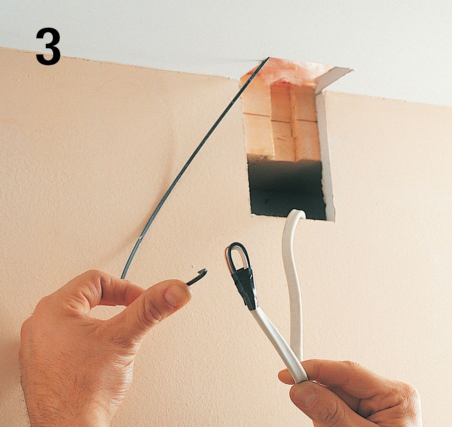 Wire cable conduit the complete guide to wiring for Fishing wire through ceiling