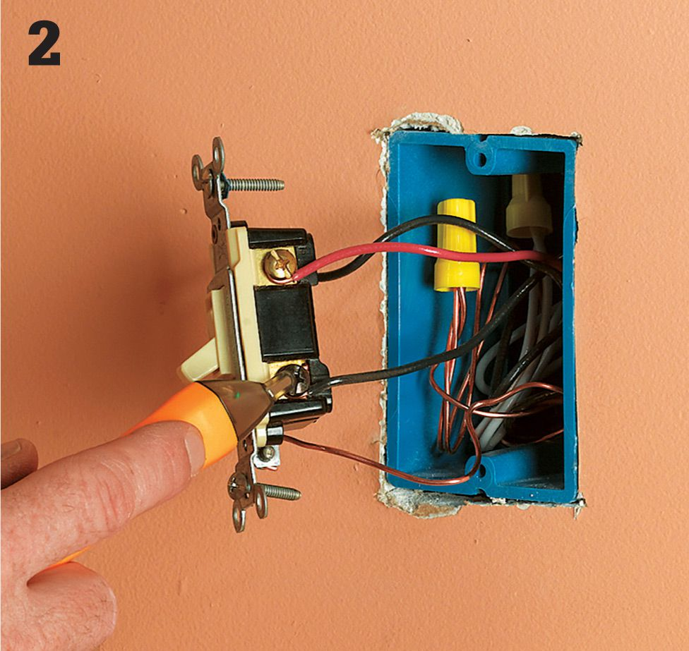 Switches The Complete Guide To Wiring Black Decker Cool Home Circuit Testing Test For Power By Touching One Probe Of Tester Grounded Metal Box Or Bare Copper Grounding Wire And Other