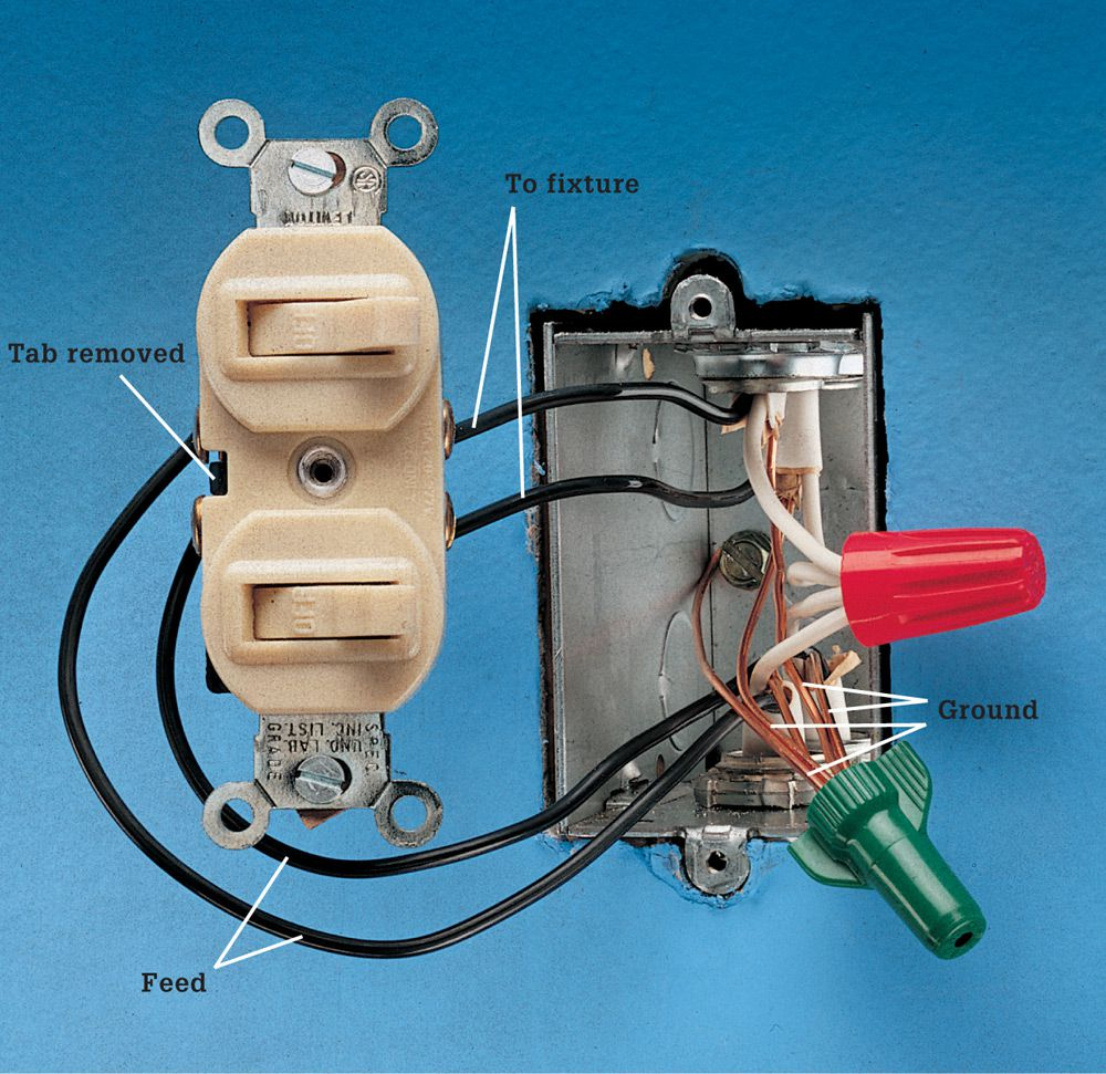 Switches The Complete Guide To Wiring Black Decker Cool What Is Wire In Electrical Separate Circuit Four Wires Are Attached Switch Feed From Power Source Side Of That Has A