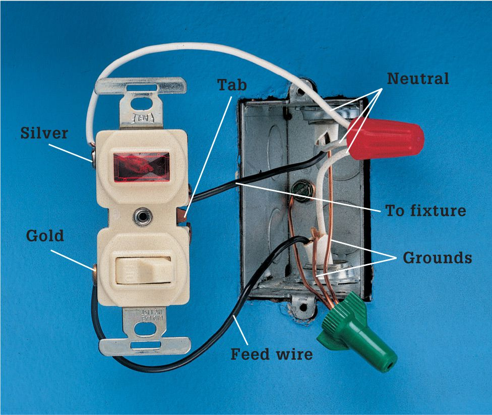 Switches The Complete Guide To Wiring Black Decker Cool A Light Switch With Power At Pilot Three Wires Are Connected One Wire Is Feed That Brings Into Box