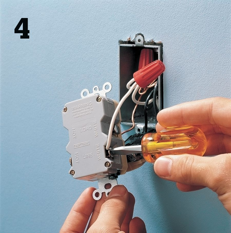 Receptacles The Complete Guide To Wiring Black Decker Cool An Outlet Pigtail All White Neutral Wires Together And Connect Terminal Marked Line On Gfci See Photo Opposite Page