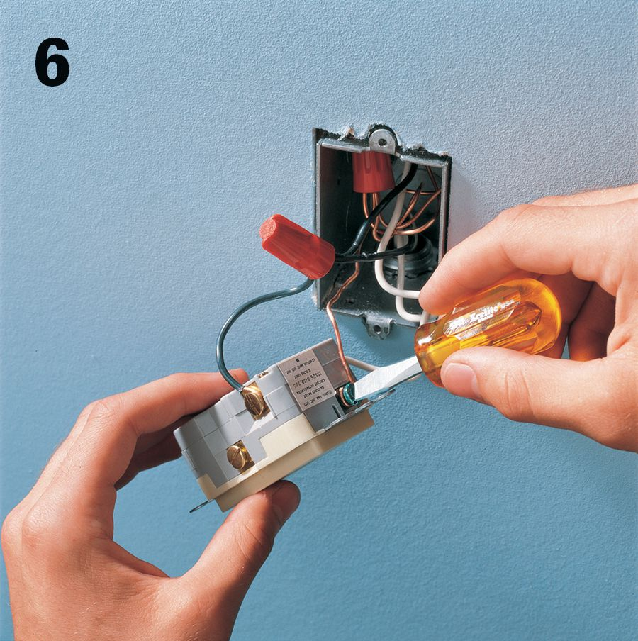 Receptacles The Complete Guide To Wiring Black Decker Cool Gfci Electrical Outlet It Also Had A Ground Wire If Grounding Is Available Connect Green Screw Terminal Of Mount In Receptacle Box And Reattach Cover