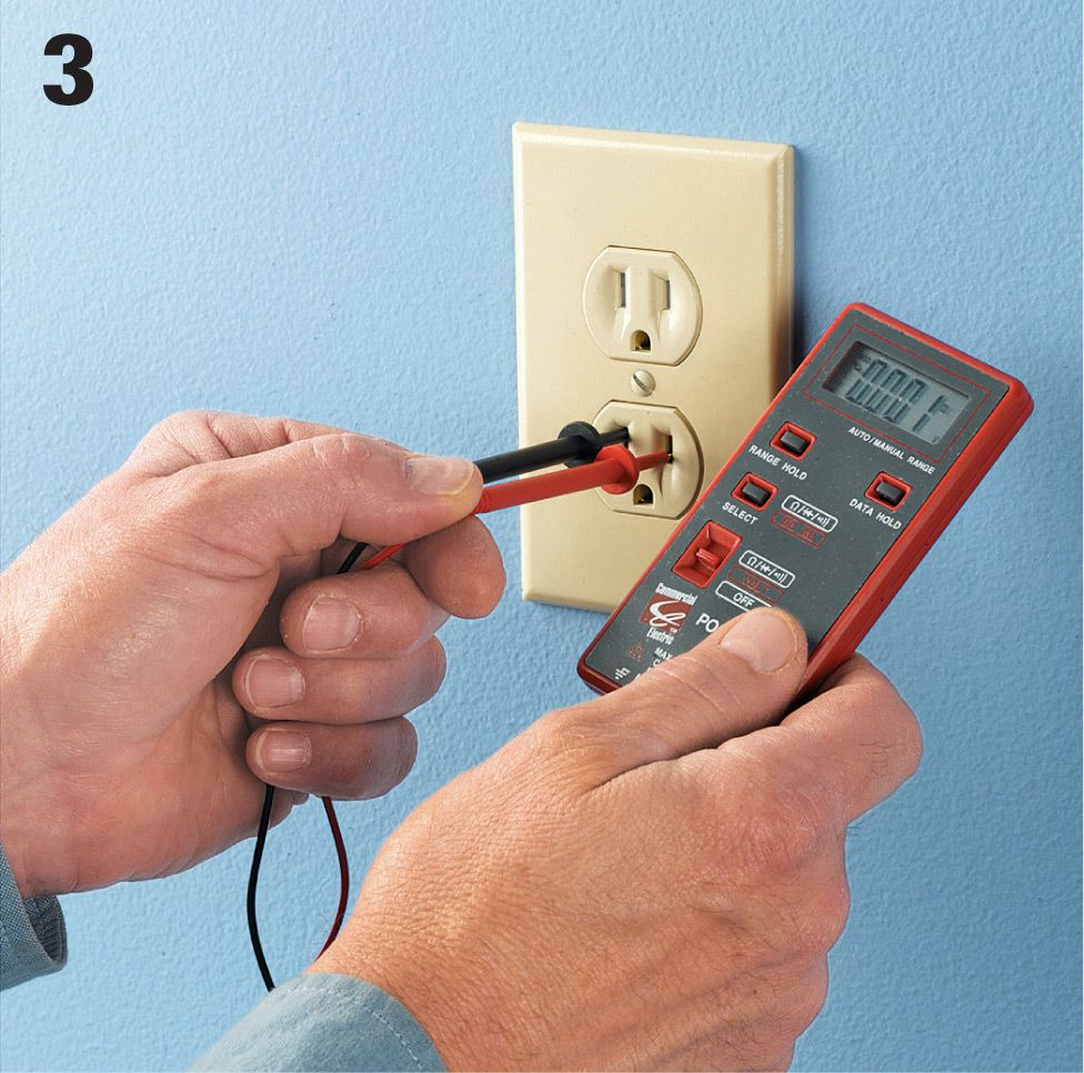 Receptacles The Complete Guide To Wiring Black Decker Cool Residential Voltage If Power Is Present And Flowing Normally You Will See A Reading On Readout Screen