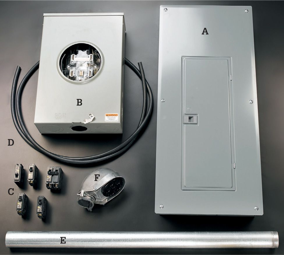 Common Wiring Projects The Complete Guide To Black Adding A 240 Volt Breaker Is Not As Hard You May Think Photo All Equipment Youll Need Upgrade Your Main Panel Sold At Most Larger Building Centers It Includes New 200 Amp B Bypass