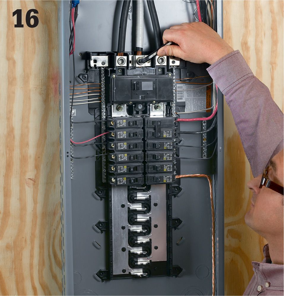 Common Wiring Projects The Complete Guide To Black Ac Line Neutral Ground Attach Se Wires Lugs Connected Main Breakers At Top Of Your Service Entry Panel Do Not Remove Too Much Insulation On