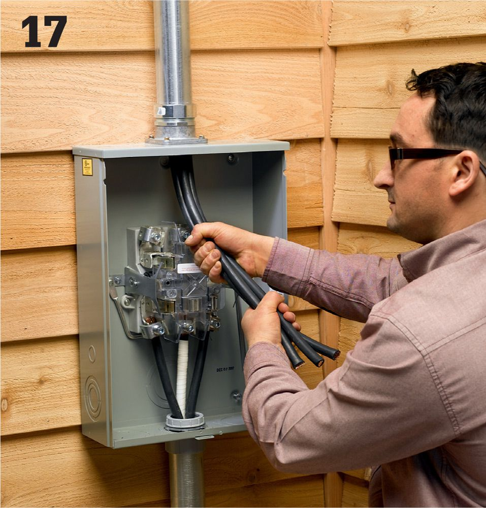 Common Wiring Projects The Complete Guide To Black Underground Electrical Service Entrance Grounding Install Wires From Meter Weatherhead Where Connections Drop Are Made Only An Agent For Your Public