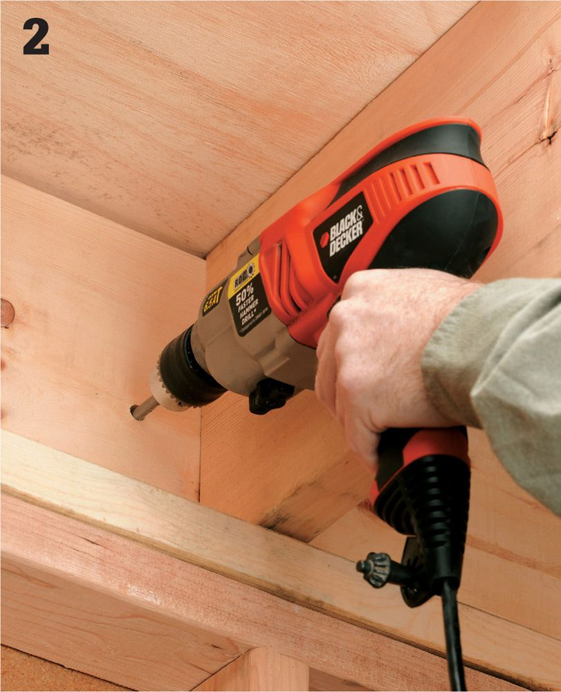 Common Wiring Projects The Complete Guide To Black Home Fuse Box Grounding Rod Drill A 5 16 Hole In Rim Joist Of Your House As Close Practical Main Service Panel Outside Above Ground Level At