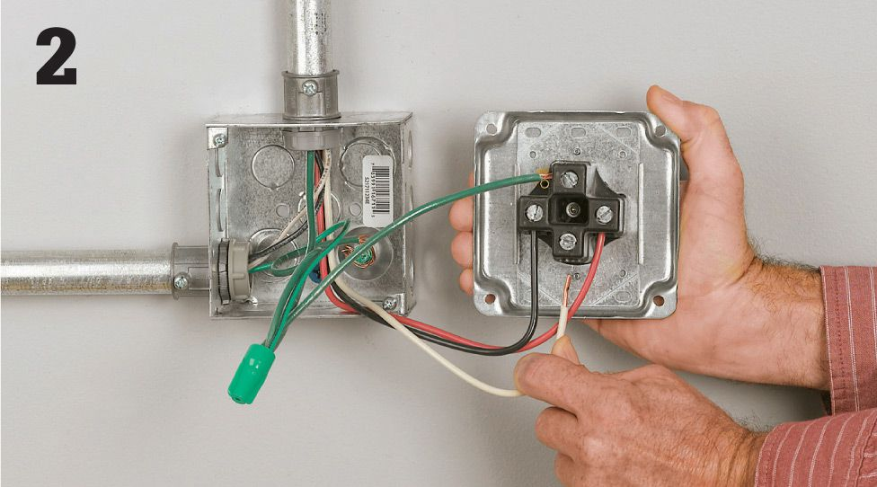 Common wiring projects the complete guide to wiring black with the service panel main breaker shut off connect the dryer cable to a dedicated 30 amp double pole breaker connect the ground wire to the panel greentooth Choice Image