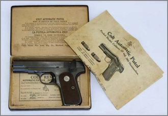 COLT</strong><br /><strong>1903-1908 POCKET HAMMERLESS - 50