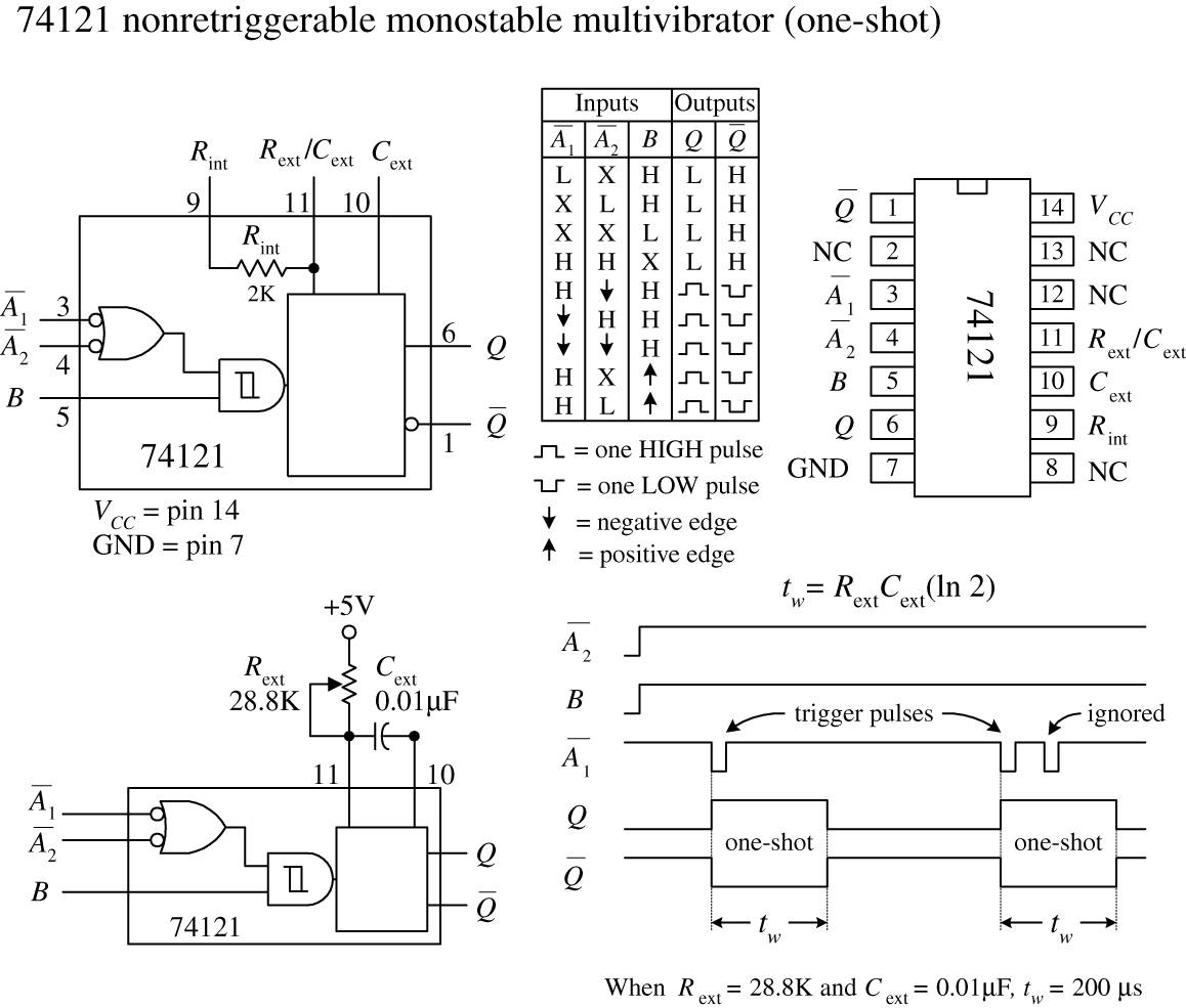 Digital Electronics Practical For Inventors Fourth Basic Monostable Multivibrator Based Ic 555 Electronic Schematic Img