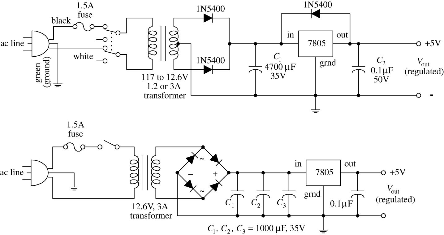 Voltage Regulators And Power Supplies Practical Electronics For Super Steady Zener Diode Circuit Img