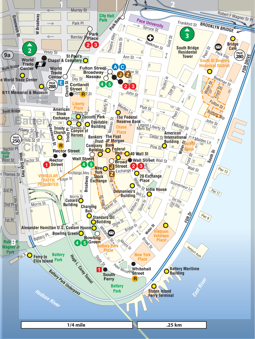 Financial District Not For Tourists Guide To New York City Not - Map of new york ellis island