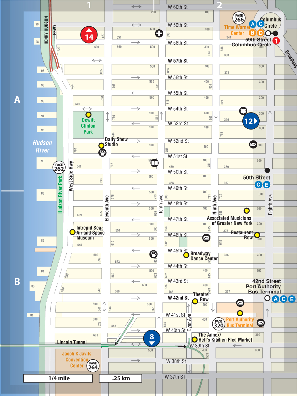 Hells Kitchen New York Map.Hell S Kitchen Not For Tourists Guide To New York City Not For