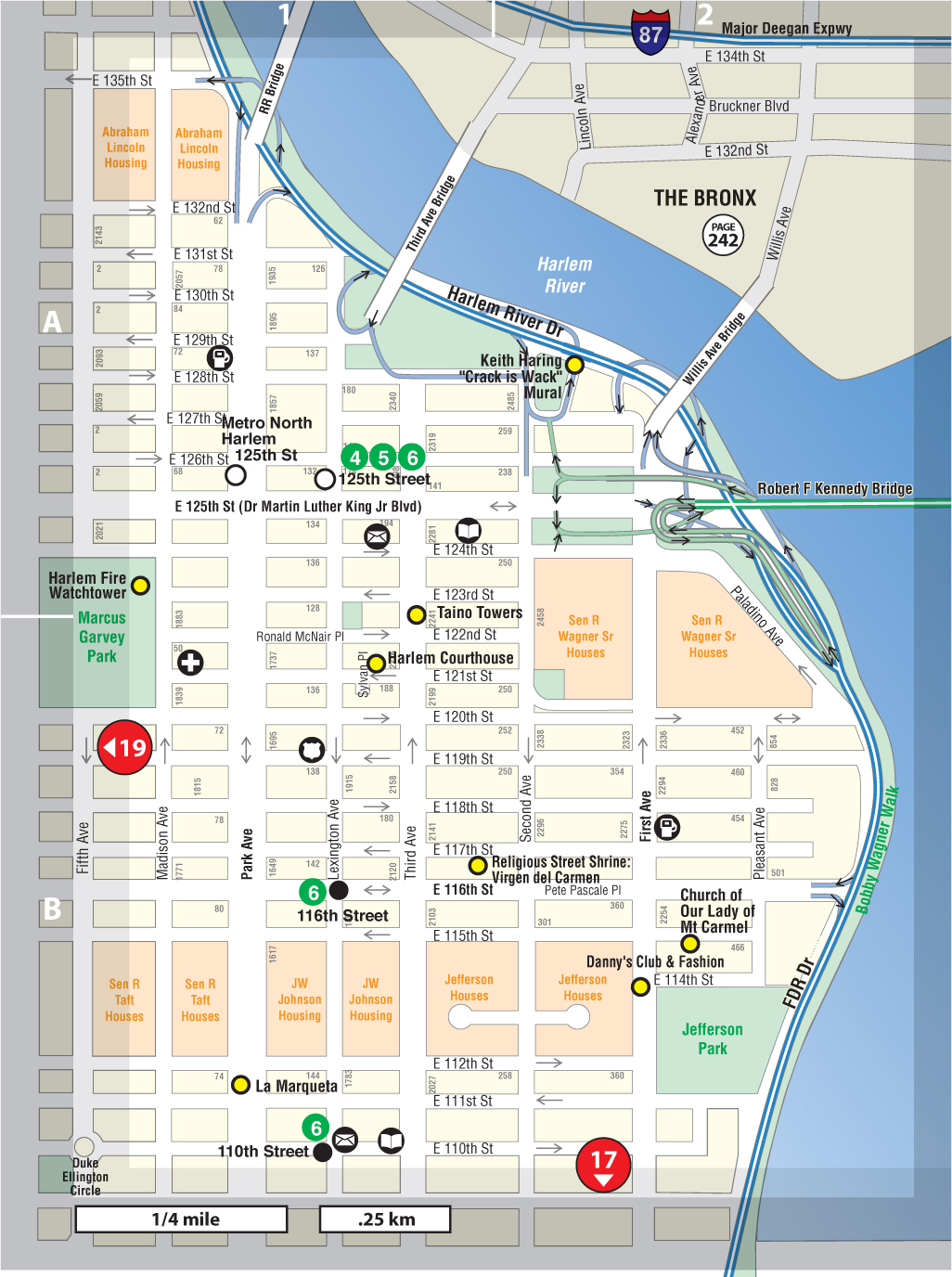 Map Of New York Harlem.El Barrio East Harlem Not For Tourists Guide To New York City